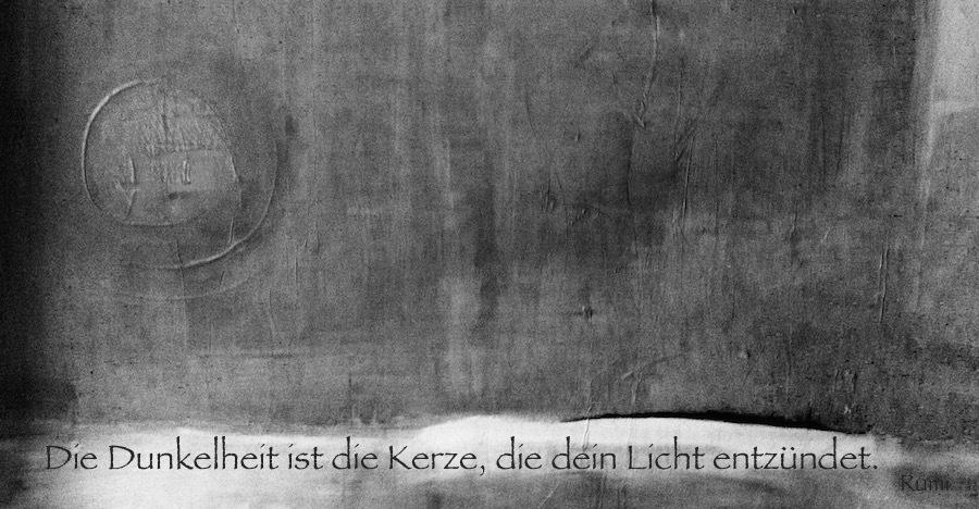 Das Licht wird in der Dunkelheit geboren